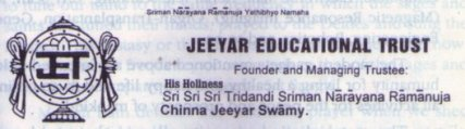 Srimukam of Jeeyar Educational Trust